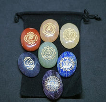 Load image into Gallery viewer, Sanskrit Chakra Stones (Oval)