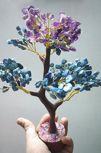 [Limited Time Only] Amethyst and Turquoise Gemstone Tree