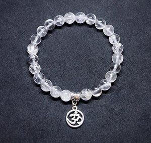 """Magic"" Clear Quartz OM Bracelet"