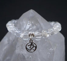 "Load image into Gallery viewer, ""Magic"" Clear Quartz OM Bracelet"