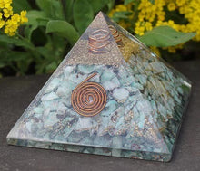 Load image into Gallery viewer, Larimar with Metatron Orgone Pyramid