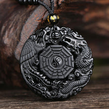 Load image into Gallery viewer, Lucky Black Bagua Pendant