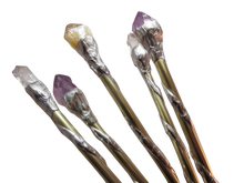 Load image into Gallery viewer, Crystal Wand (Amethyst, Quartz or Citrine Natural Point)