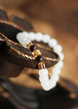 Load image into Gallery viewer, Natural White Chalcedony Bracelet