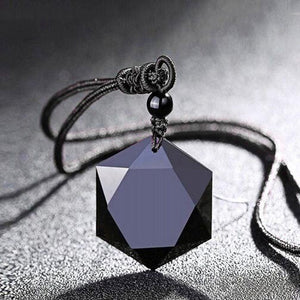Obsidian Necklace & Bracelet