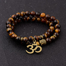 Load image into Gallery viewer, Good Luck Charm Tiger Eye bracelet