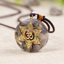Load image into Gallery viewer, Garnet Orgonite Pendant