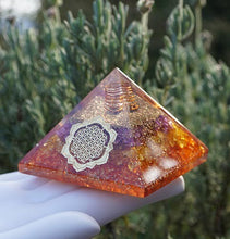 Load image into Gallery viewer, Solar Plexus Orgone Pyramid