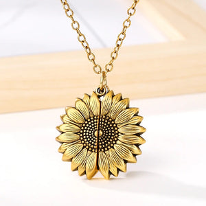 """Magic"" Sunflower Pendant"