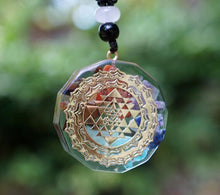 "Load image into Gallery viewer, ""Magic"" Ancient Symbol Orgonite Chakra Pendant"
