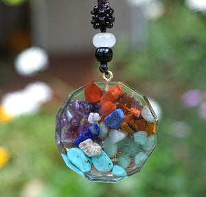 """Magic"" Ancient Symbol Orgonite Chakra Pendant"