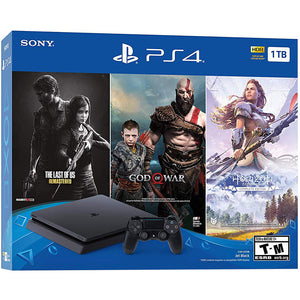 PLAYSTATION 4 1TB WITH 3 GAMES  - THE LAST OF US / GOD OF WAR / HORIZON ZERO DAWN.