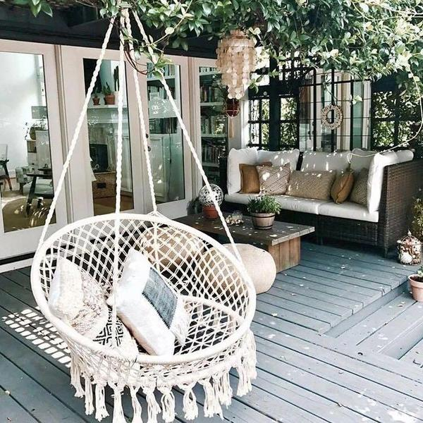 ARIA - Macrame Hanging Swing Chair