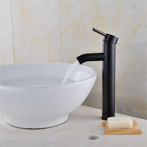 Black Matte Finish Stainless Steel Faucet - Flowydecor
