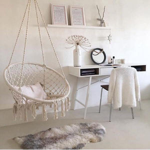 ARIA - Macrame Hanging Swing Chair - Flowydecor