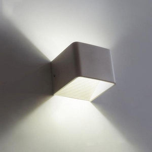 Wooden Modern LED Up Down Cube Wall Lamp - Flowydecor