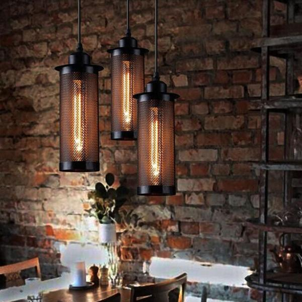 Caius - Vintage Industrial Hanging Pendant Lamp - Flowydecor