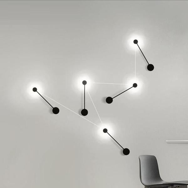 Cyrus - Minimalist Circular Art Deco Led Wall Lamp - Flowydecor