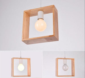 Geometric Hanging Wooden Lights - Flowydecor