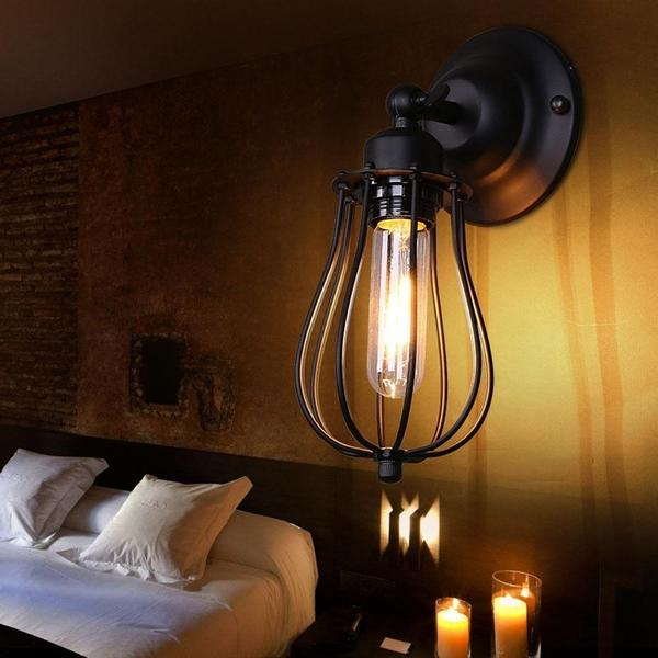 Industrial Droplet Cage Wall Lamp - Flowydecor