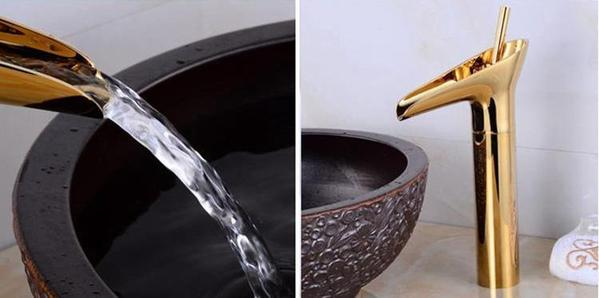 Luxury Oriental Waterfall Faucet - Flowydecor