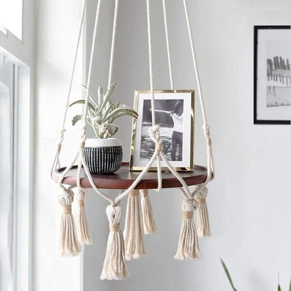 Mora - Macrame Hanging Shelf - Flowydecor