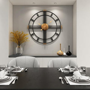 Candela - Modern Art Deco Wall Clock - Flowydecor