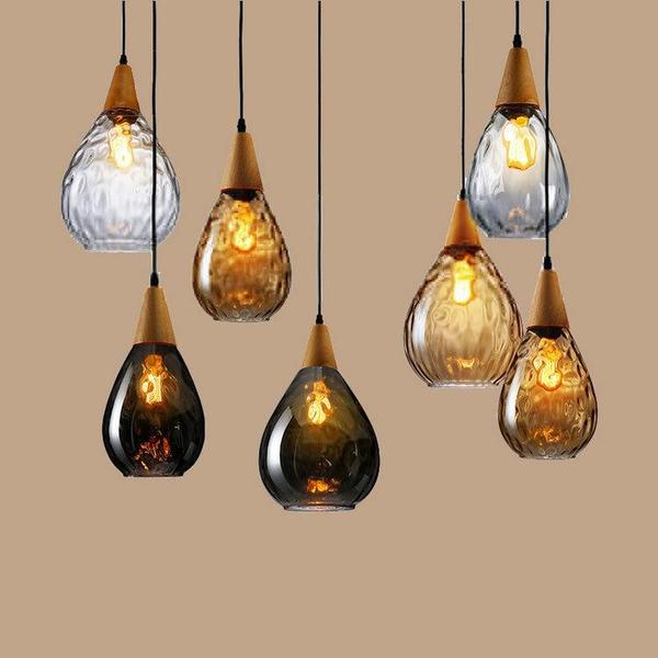Sergio - Modern Nordic Drop Glass Pendant Lamp - Flowydecor