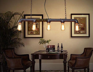Vintage Industrial Pipe Pendant Chandelier - Flowydecor