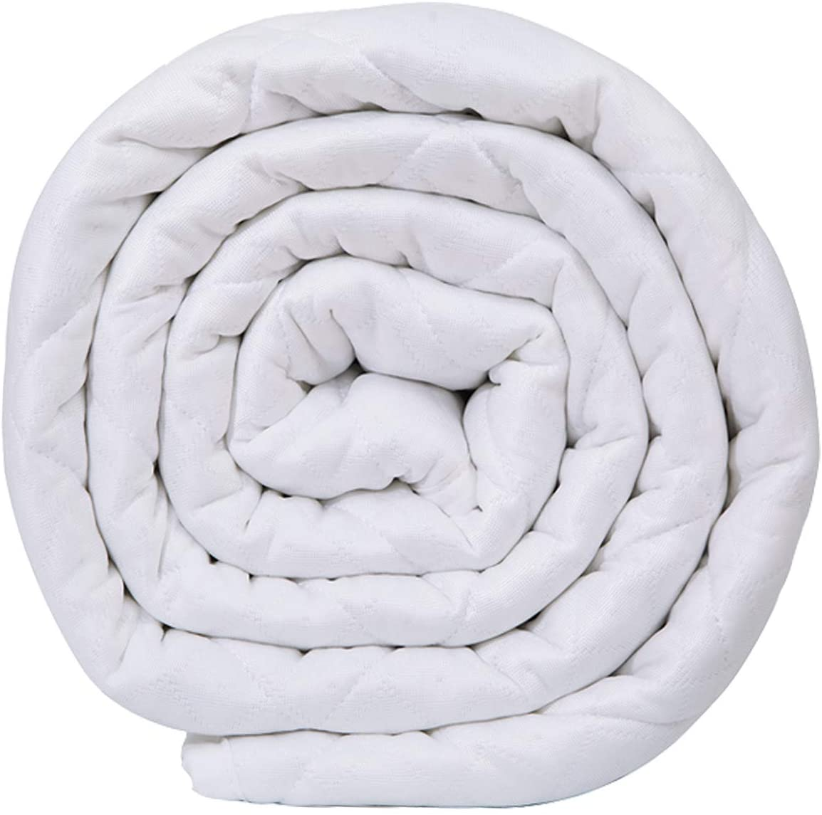 Queen King Size Weighted Blanket In White Knight 11kg Sensorysam