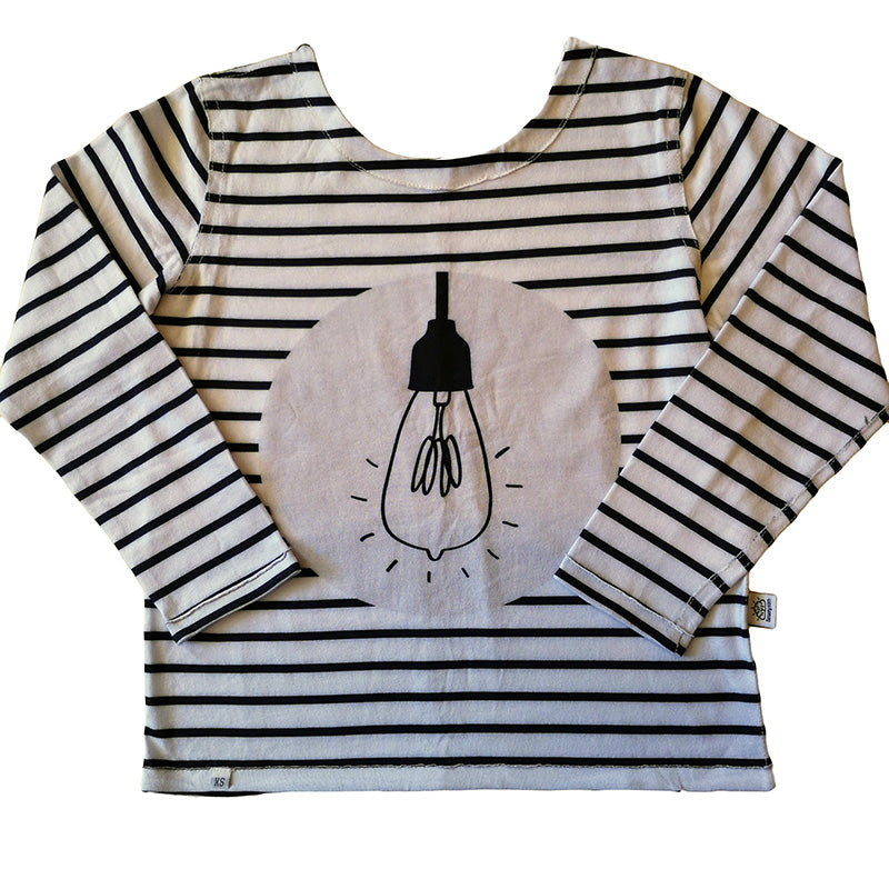 Light Bulb Back to Front Long Sleeve T-Shirt Unisex