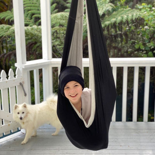 Double Layered Cotton Sensory Swing- Black