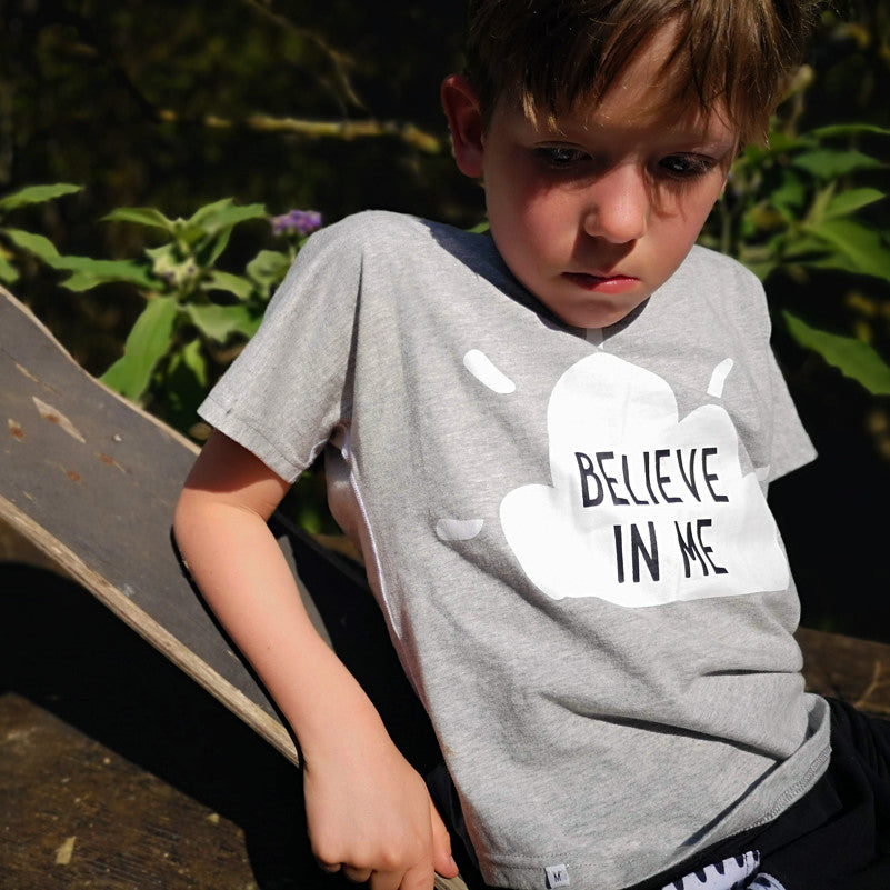 Believe in Me Flat Seamed T-Shirt Unisex