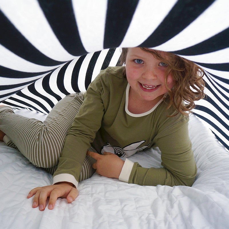 Sensory Sheet- Cotton/Spandex Striped Tee