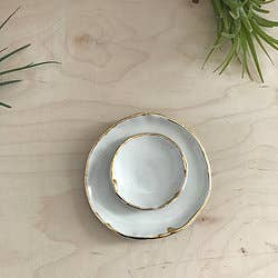 Ring Dish - White