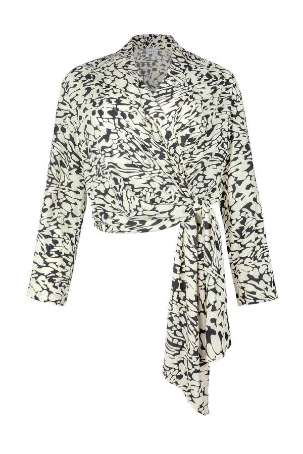 L/S Wrap Top - Graphic Animal