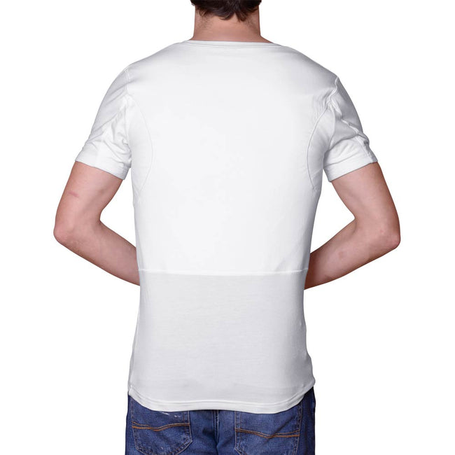 Men's Back Sweat Proof Undershirt for Back Sweating (V-Neck)