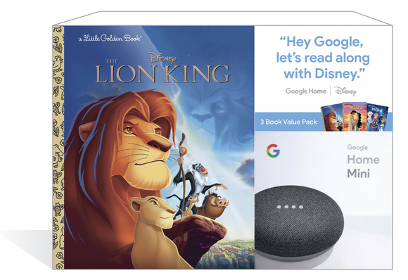 Google Home Mini + Libro Rey Leon