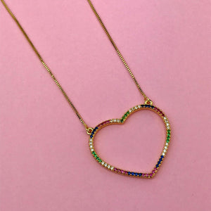 Collar Corazon Rainbow AZ38