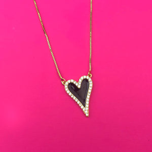 Collar Corazon Black VE77