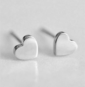 Aretes Corazon Acero Inoxidable VE67