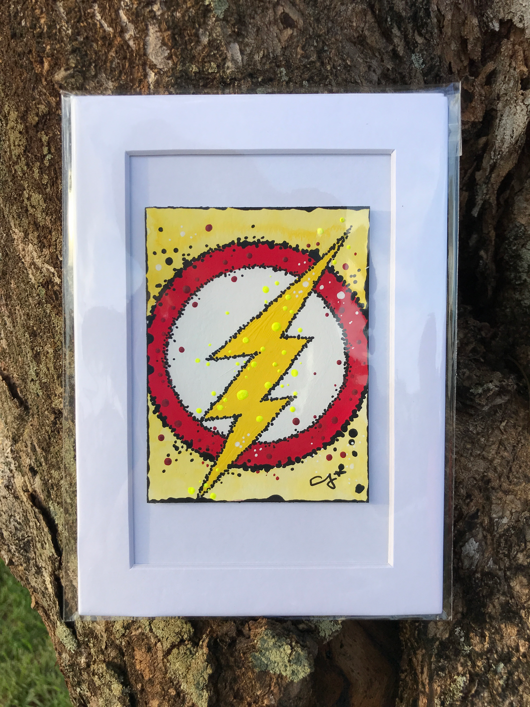Flash Logo - Gouache Original