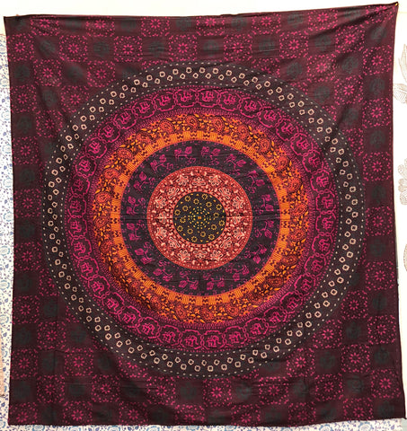 jaan-imports - Colorful Beautiful Mandala Queen Tapestry - Khoobsurat Gift Shop - Queen Tapestry
