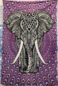 jaan-imports - Elephant Purple Color Twin Tapestry - Khoobsurat Gift Shop - Twin Tapestry