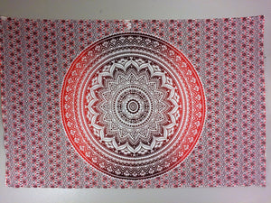 jaan-imports - Red Mandala Twin Tapestry - Khoobsurat Gift Shop - Twin Tapestry