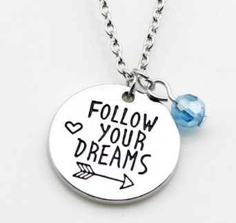 jaan-imports - Follow Your Dreams or Faith Over Fear Necklace (2 Styles) - Khoobsurat Gift Shop - Necklace
