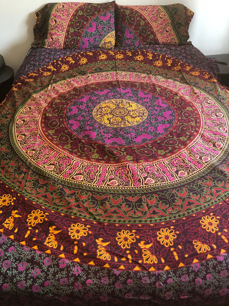 Colorful Mandala Queen Duvet Set