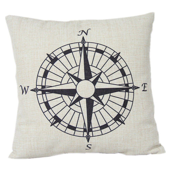 jaan-imports - Compass Directional Pillow Cover - Khoobsurat Gift Shop - Pillow Cover
