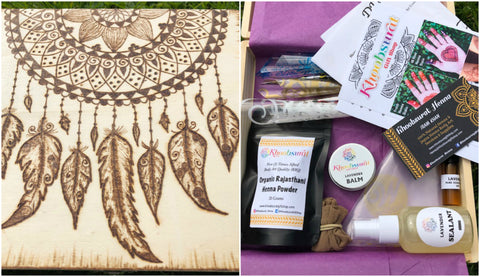 DIY Henna Kit with Dream Catcher Keepsake Box