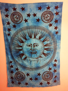 jaan-imports - Sun and Moon Blue Twin Tapestry - Khoobsurat Gift Shop - Twin Tapestry